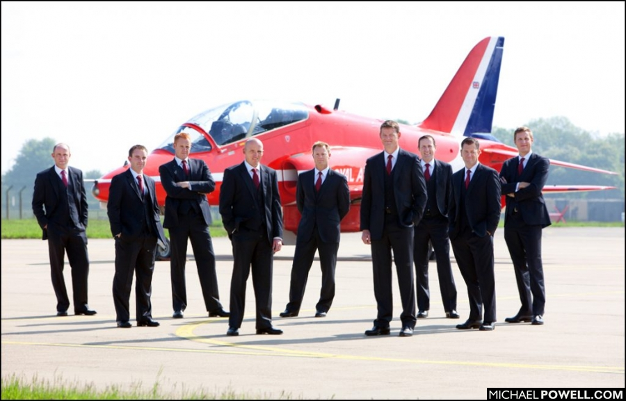 © Copyright Michael Powell The Red Arrows in less familiar formal wear.