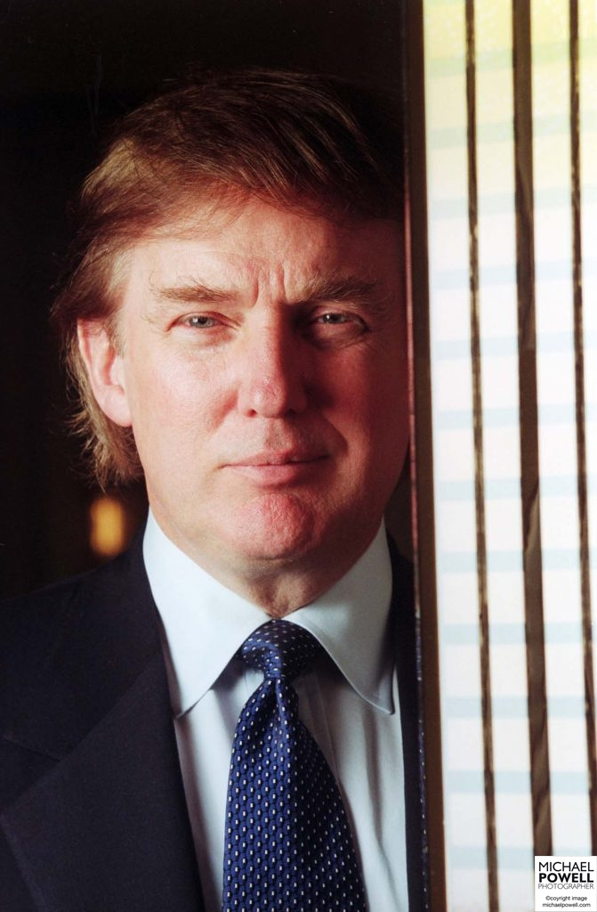 USA President Elect, Donald Trump photographed with a Trump Tower model a week before his 50th birthday in June 1996.