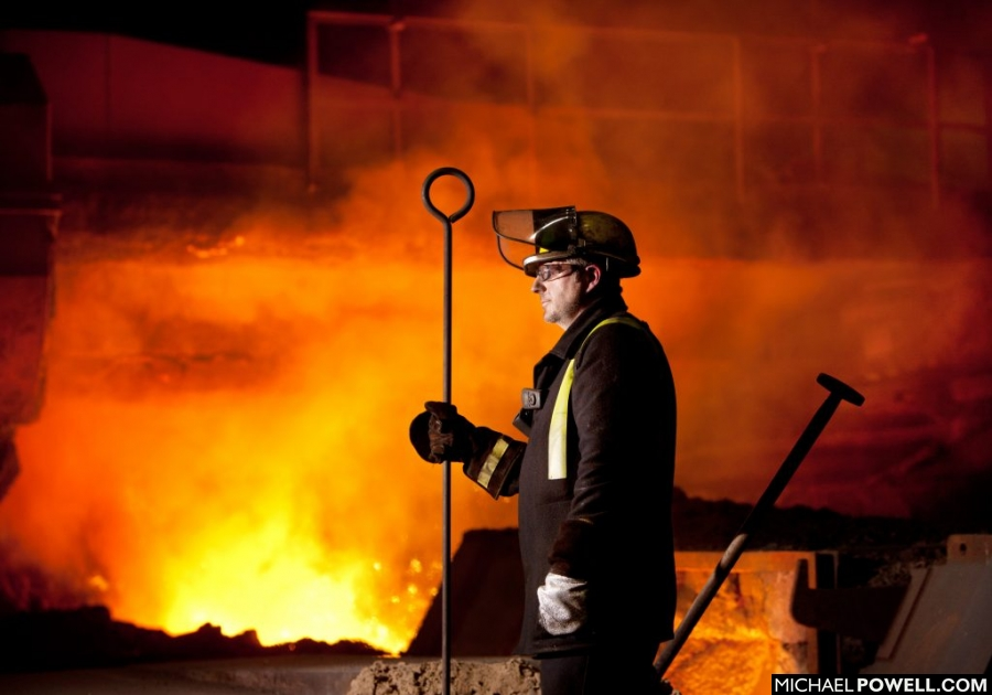 Lincolnshire Industrial photography,British Steel,Scunthorpe,Michael Powell