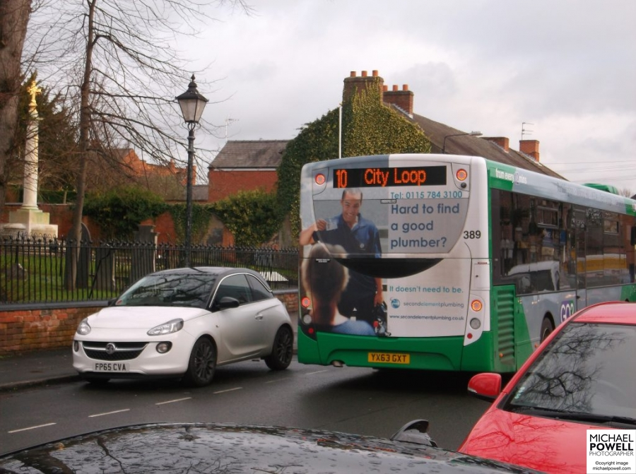 Nottingham commercial photography on Nottingham bus