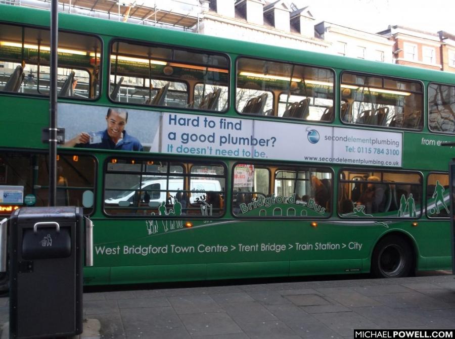 Nottingham commercial photography on Nottingham bus