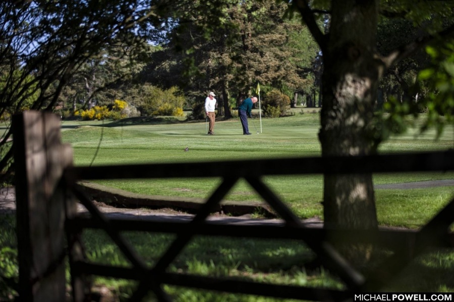 The very first golfers to play at Market Rasen Golf Club in Lincolnshire after lockdown restrictions were relaxed for the sport